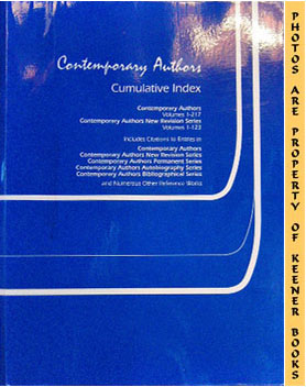 Image for Contemporary Authors: Cumulative Index