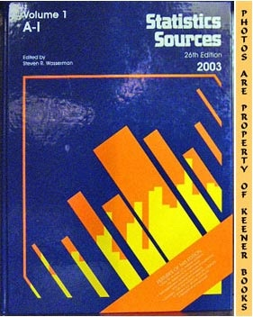 Image for Statistics Sources (26th Edition - 2003)