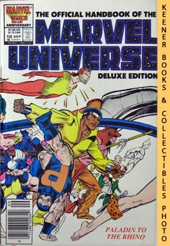 Image for The Official Handbook Of The Marvel Universe, Deluxe Edition: Vol. 2 No. 10, Sept 1986 * Paladin To The Rhino