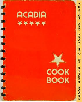 Image for Acadia Cook Book