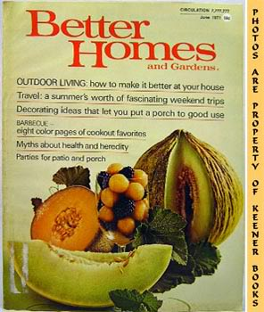 Image for Better Homes And Gardens Magazine (June 1971 Vol. 49, No. 6 Issue)