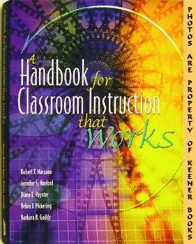 Image for A Handbook For Classroom Instruction That Works