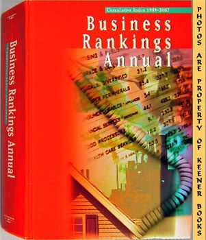 Image for Business Rankings Annual Cumulative Index 1989 - 2007