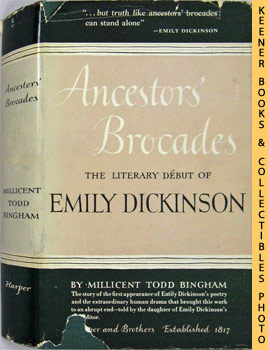 Image for Ancestors' Brocades : The Literary Debut Of Emily Dickinson