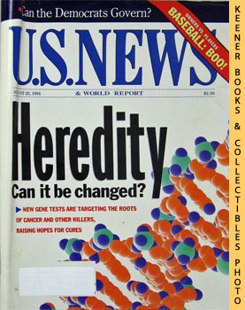 Image for U. S. News & World Report Magazine - August 22, 1994 (Heredity - Can It Be Changed?)