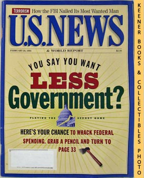 Image for U. S. News & World Report Magazine - February 20, 1995 (You Say You Want Less Government?)
