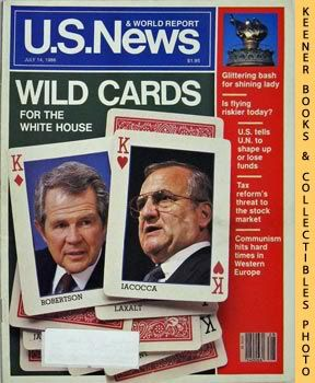 Image for U. S. News & World Report Magazine - July 14, 1986 (Wild Cards For The White House)