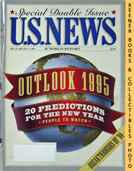Image for U. S. News & World Report Magazine - Dec. 26, 1994 - Jan. 2, 1995 (Outlook 1995 - 20 Predictions For The New Year)