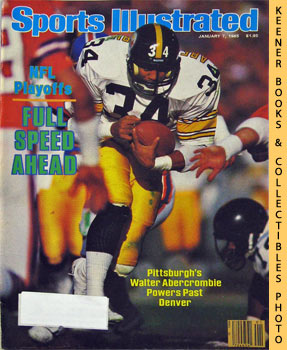 Image for Sports Illustrated Magazine, January 7, 1985 (Vol 62, No. 1) : NFL Playoffs - Full Speed Ahead - Pittsburgh's Walter Abercrombie Powers Past Denver