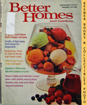 Image for Better Homes And Gardens Magazine (September 1974 Vol. 52, No. 9 Issue)