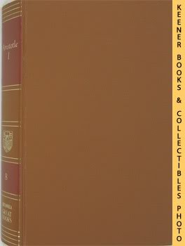Image for Aristotle: I (The Works Of Aristotle, Volume I): Great Books Of The Western World Collection Series