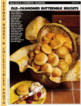 Image for McCall's Cooking School Recipe Card: Breads 4 - Southern Raised Biscuits (Replacement McCall's Recipage or Recipe Card For 3-Ring Binders)