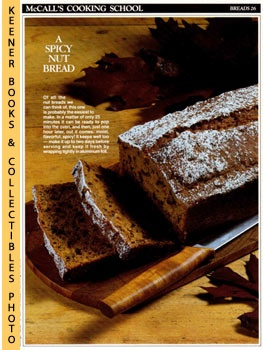 Image for McCall's Cooking School Recipe Card: Breads 26 - Pumpkin-Nut Bread (Replacement McCall's Recipage or Recipe Card For 3-Ring Binders)