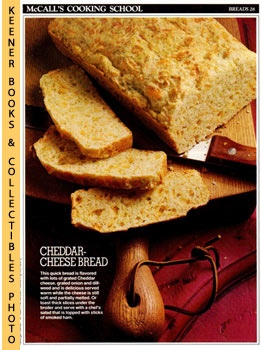 Image for McCall's Cooking School Recipe Card: Breads 28 - Brethren's Cheese Bread (Replacement McCall's Recipage or Recipe Card For 3-Ring Binders)