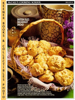 Image for McCall's Cooking School Recipe Card: Breads 29 - Breakfast Scones (Replacement McCall's Recipage or Recipe Card For 3-Ring Binders)