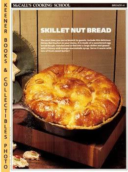 Image for McCall's Cooking School Recipe Card: Breads 41 - Honey-Nut Kuchen (Replacement McCall's Recipage or Recipe Card For 3-Ring Binders)