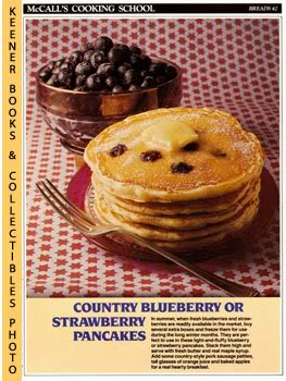 Image for McCall's Cooking School Recipe Card: Breads 42 - Blueberry or Strawberry Pancakes (Replacement McCall's Recipage or Recipe Card For 3-Ring Binders)
