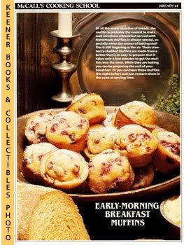 Image for McCall's Cooking School Recipe Card: Breads 44 - Cranberry Muffins (Replacement McCall's Recipage or Recipe Card For 3-Ring Binders)