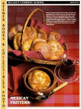 Image for McCall's Cooking School Recipe Card: Breads 48 - Buneulos With Anise-Sugar Syrup (Replacement McCall's Recipage or Recipe Card For 3-Ring Binders)