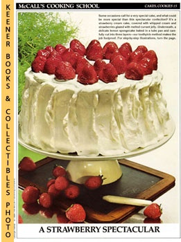 Image for McCall's Cooking School Recipe Card: Cakes, Cookies 15 - Strawberry Cream Cake (Replacement McCall's Recipage or Recipe Card For 3-Ring Binders): McCall's Cooking School Cookbook Series