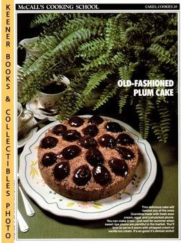 Image for McCall's Cooking School Recipe Card: Cakes, Cookies 20 - Sour-Cream Plum Cake (Replacement McCall's Recipage or Recipe Card For 3-Ring Binders): McCall's Cooking School Cookbook Series