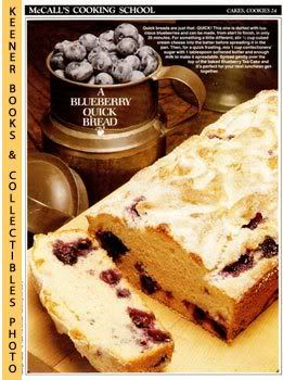 Image for McCall's Cooking School Recipe Card: Cakes, Cookies 24 - Blueberry Tea Cake (Replacement McCall's Recipage or Recipe Card For 3-Ring Binders): McCall's Cooking School Cookbook Series