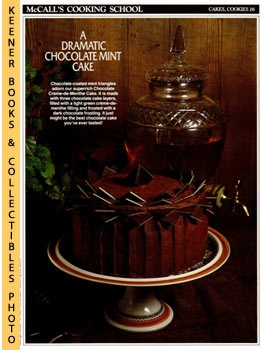 Image for McCall's Cooking School Recipe Card: Cakes, Cookies 26 - Crème-de-Menthe Chocolate Cake (Replacement McCall's Recipage or Recipe Card For 3-Ring Binders): McCall's Cooking School Cookbook Series