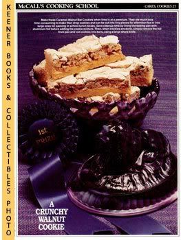 Image for McCall's Cooking School Recipe Card: Cakes, Cookies 27 - Caramel-Walnut Bars (Replacement McCall's Recipage or Recipe Card For 3-Ring Binders): McCall's Cooking School Cookbook Series