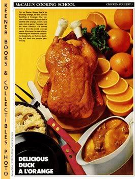 Image for McCall's Cooking School Recipe Card: Chicken, Poultry 3 - Duckling A L'Orange (Replacement McCall's Recipage or Recipe Card For 3-Ring Binders)