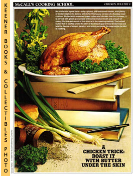 Image for McCall's Cooking School Recipe Card: Chicken, Poultry 9 - Roast Chicken With Herbs (Replacement McCall's Recipage or Recipe Card For 3-Ring Binders)