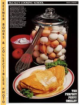 Image for McCall's Cooking School Recipe Card: Eggs, Cheese 1 - Omelet (Replacement McCall's Recipage or Recipe Card For 3-Ring Binders)