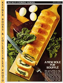 Image for McCall's Cooking School Recipe Card: Eggs, Cheese 3 - Cheese Souffle' Roll (Replacement McCall's Recipage or Recipe Card For 3-Ring Binders)