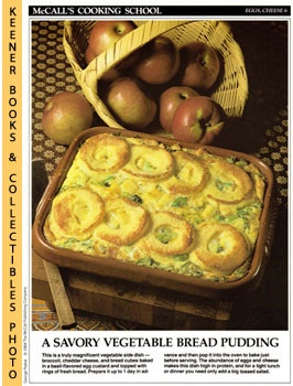 Image for McCall's Cooking School Recipe Card: Eggs, Cheese 6 - Broccoli-Cheese Puff (Replacement McCall's Recipage or Recipe Card For 3-Ring Binders)
