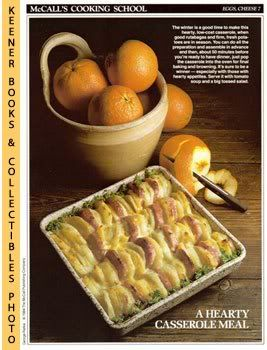Image for McCall's Cooking School Recipe Card: Eggs, Cheese 7 - Cheese-Scalloped Potato Casserole (Replacement McCall's Recipage or Recipe Card For 3-Ring Binders)