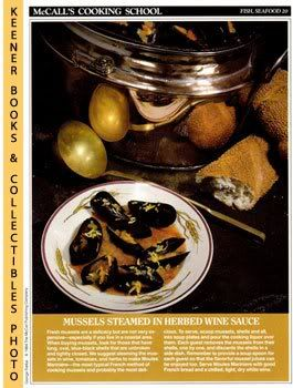 Image for McCall's Cooking School Recipe Card: Fish, Seafood 20 - Moules Mariniere (Replacement McCall's Recipage or Recipe Card For 3-Ring Binders): McCall's Cooking School Cookbook Series