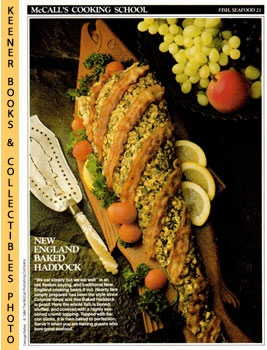 Image for McCall's Cooking School Recipe Card: Fish, Seafood 21 - Baked Haddock (Replacement McCall's Recipage or Recipe Card For 3-Ring Binders): McCall's Cooking School Cookbook Series