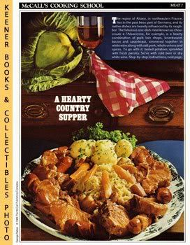 Image for McCall's Cooking School Recipe Card: Meat 7 - Choucroute A L'Alsacienne (Replacement McCall's Recipage or Recipe Card For 3-Ring Binders)