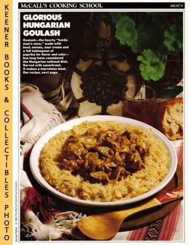 Image for McCall's Cooking School Recipe Card: Meat 9 - Hungarian Goulash With Sauerkraut (Replacement McCall's Recipage or Recipe Card For 3-Ring Binders)