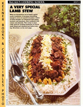 Image for McCall's Cooking School Recipe Card: Meat 12 - Moroccan Lamb Stew (Replacement McCall's Recipage or Recipe Card For 3-Ring Binders)