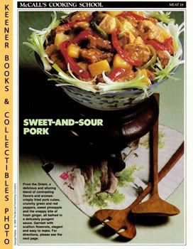 Image for McCall's Cooking School Recipe Card: Meat 18 - Sweet-And-Sour Pork (Replacement McCall's Recipage or Recipe Card For 3-Ring Binders)