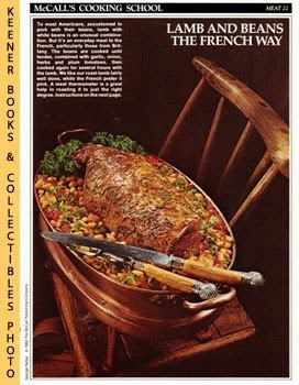 Image for McCall's Cooking School Recipe Card: Meat 22 - Leg Of Lamb With White Beans (Replacement McCall's Recipage or Recipe Card For 3-Ring Binders)