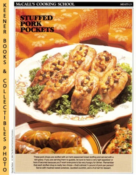 Image for McCall's Cooking School Recipe Card: Meat 23 - Baked Stuffed Pork Chops (Replacement McCall's Recipage or Recipe Card For 3-Ring Binders)