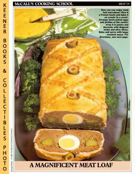 Image for McCall's Cooking School Recipe Card: Meat 24 - Meat Loaf En Croute (Replacement McCall's Recipage or Recipe Card For 3-Ring Binders)