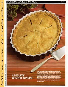 Image for McCall's Cooking School Recipe Card: Meat 26 - Ham-And-Potato Pie (Replacement McCall's Recipage or Recipe Card For 3-Ring Binders)