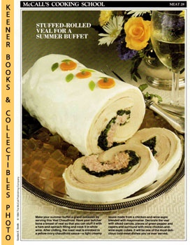 Image for McCall's Cooking School Recipe Card: Meat 28 - Breast Of Veal Chaudfroid (Replacement McCall's Recipage or Recipe Card For 3-Ring Binders)