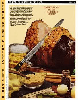 Image for McCall's Cooking School Recipe Card: Meat 30 - Summer Baked Ham (Replacement McCall's Recipage or Recipe Card For 3-Ring Binders)
