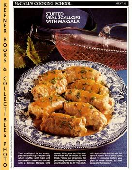Image for McCall's Cooking School Recipe Card: Meat 32 - Veal Rolls Marsala (Replacement McCall's Recipage or Recipe Card For 3-Ring Binders)