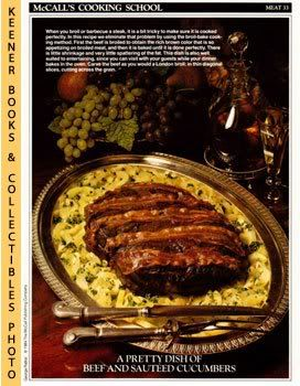 Image for McCall's Cooking School Recipe Card: Meat 33 - Roast Sirloin Of Beef With Sauteed Cucumbers (Replacement McCall's Recipage or Recipe Card For 3-Ring Binders)