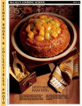 Image for McCall's Cooking School Recipe Card: Meat 34 - Ham-Loaf Ring With Mustard-Glazed Fruits (Replacement McCall's Recipage or Recipe Card For 3-Ring Binders)