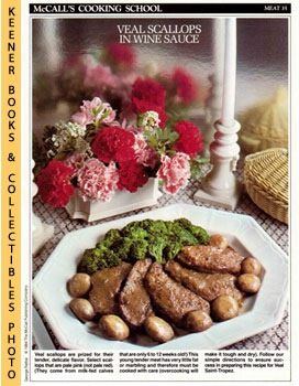 Image for McCall's Cooking School Recipe Card: Meat 35 - Veal Saint-Tropez (Replacement McCall's Recipage or Recipe Card For 3-Ring Binders)